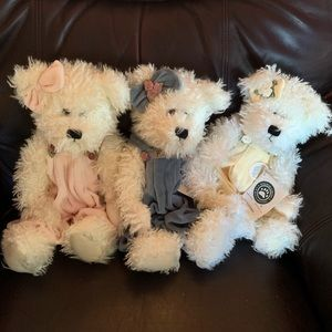 The boys collection lot of 3 plush bears